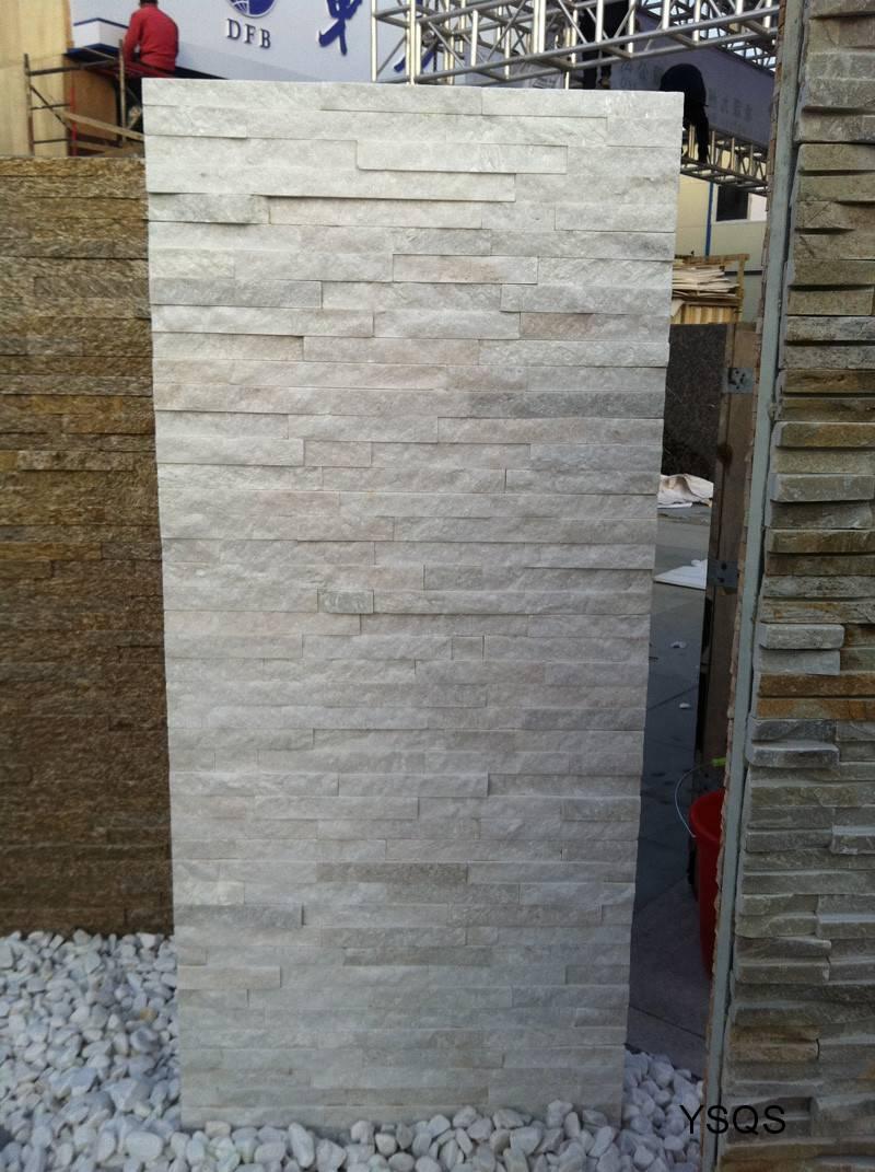 Absolute White Quartzite Stacked Stone