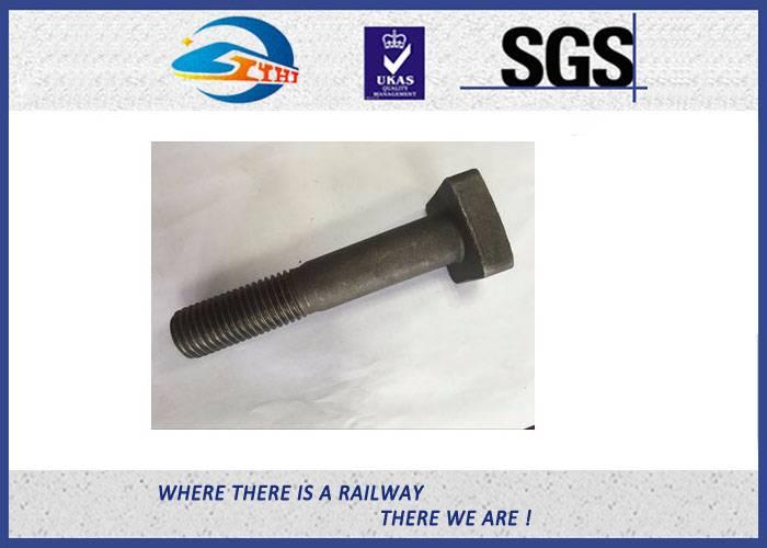 ZhongYue Durable T Head Short Rod Railway Bolt Plain Surface Custom Made