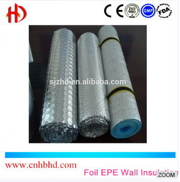 Aluminum foil EPE Wall Insulation and Roof Insulation for building