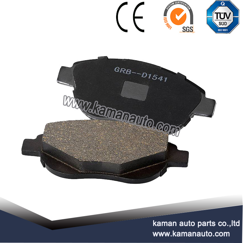 Auto car break pad with fabric shims
