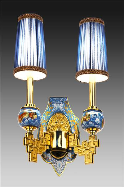 """Phoenix Legend"" Cloisonne Wall Lamp"