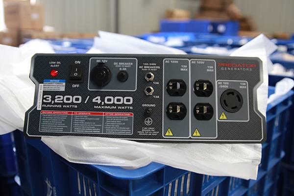 Generator panel Model designed and manufactured for Predator Generator 3200
