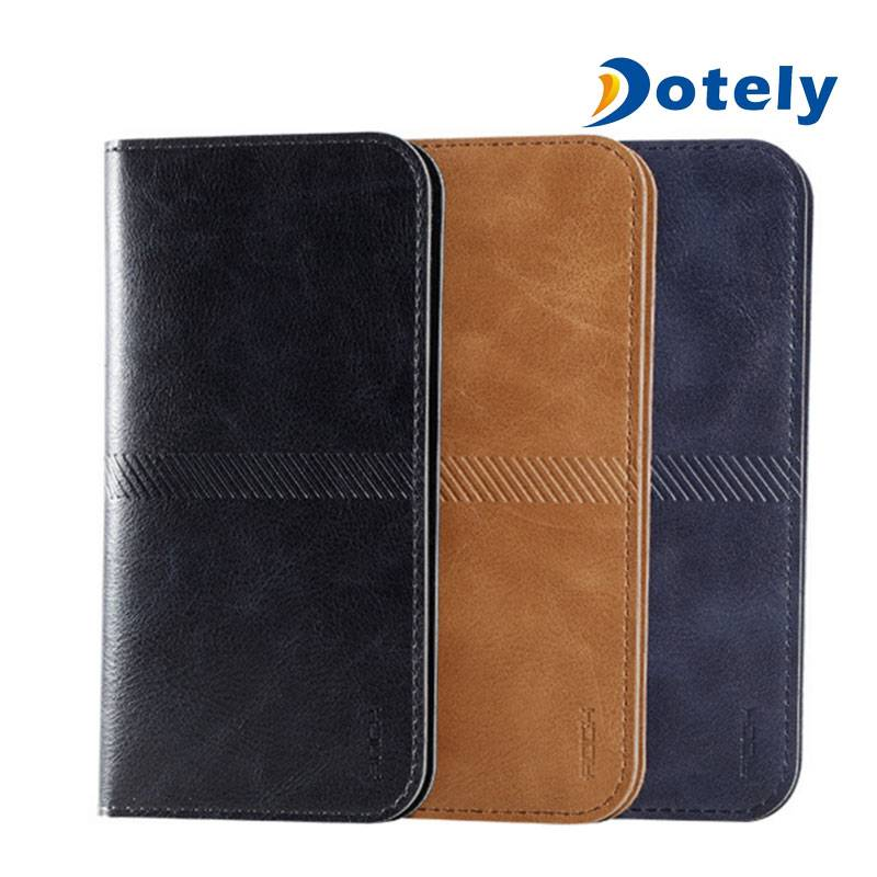 Universal Case Fashion Wallet Case Leather Phone Case Cover Stand with Card Holder