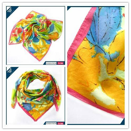 Colorful viscose square scarf * HEFT scarves and shawls