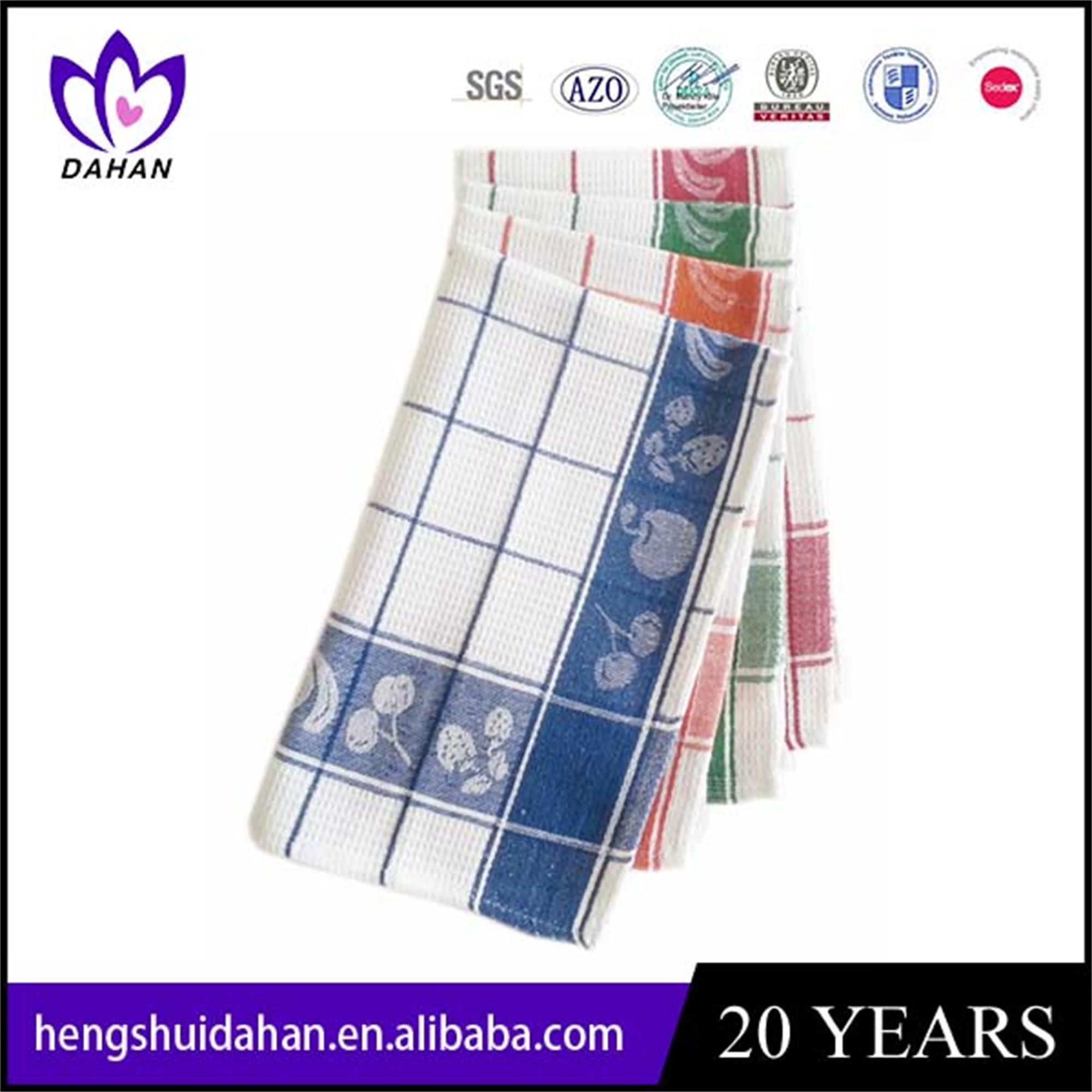 cotton grid jacquard tea towel`