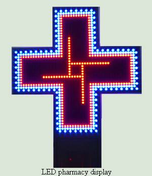 P20 LED cross pharmacy display