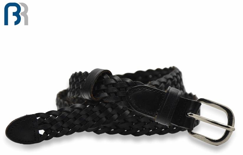 Ladies Braided Leather Belt