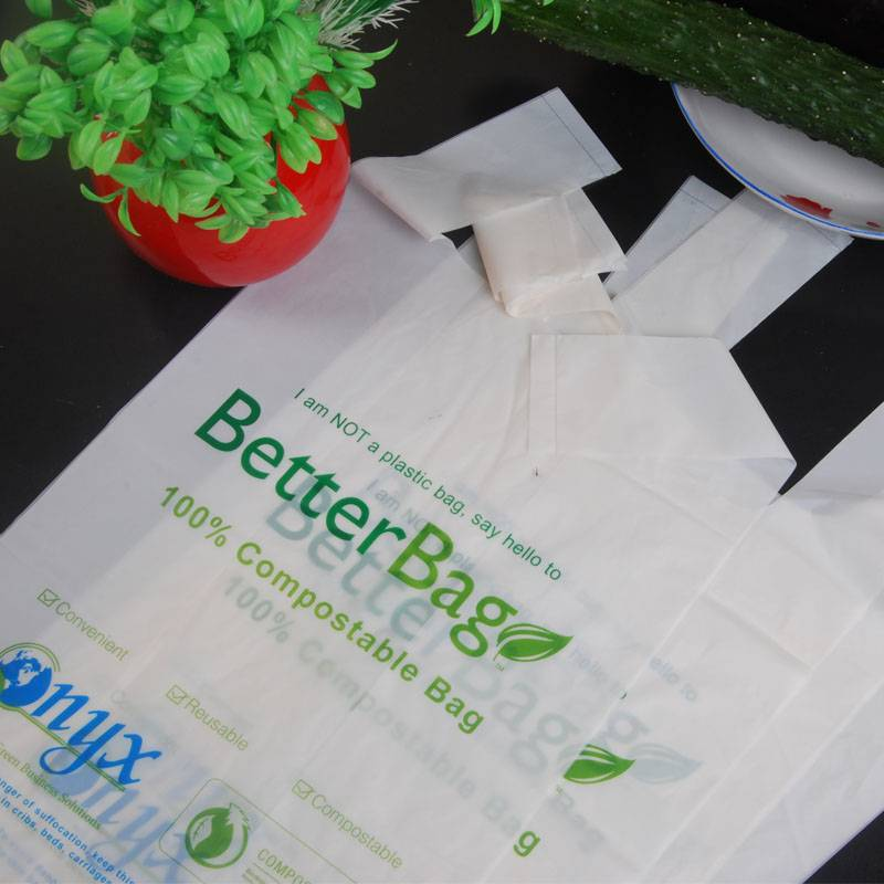 100% biodegradable and compostable shopping bags