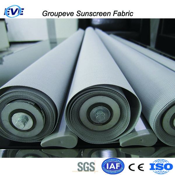 Outdoor Polyester With Pvc Coated Material Sunscreen Roller Fabric Roller Shade