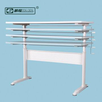 Hand Crank Height Adjustable Standing Desk