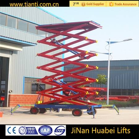 Tianti industrial electric lift platform with hydraulic scissor type