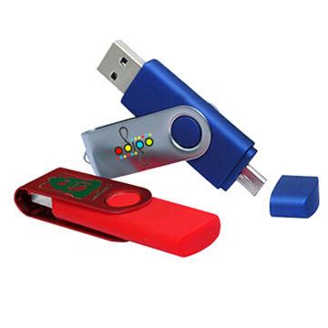Swivel OTG usb flash dirve, Dual Port Android OTG USB flash drive, Cheapest OTG usb flash drive