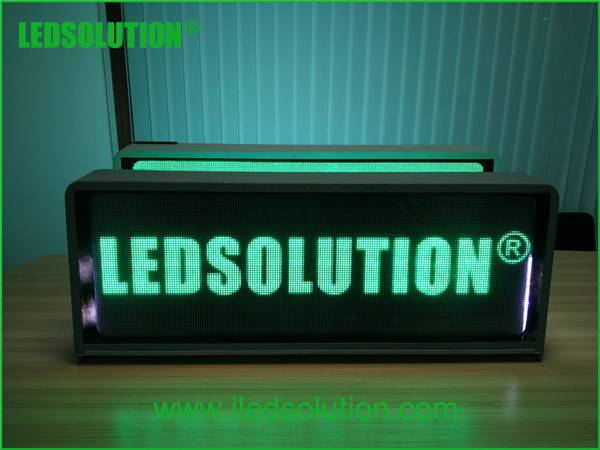 taxi top full color led display sign