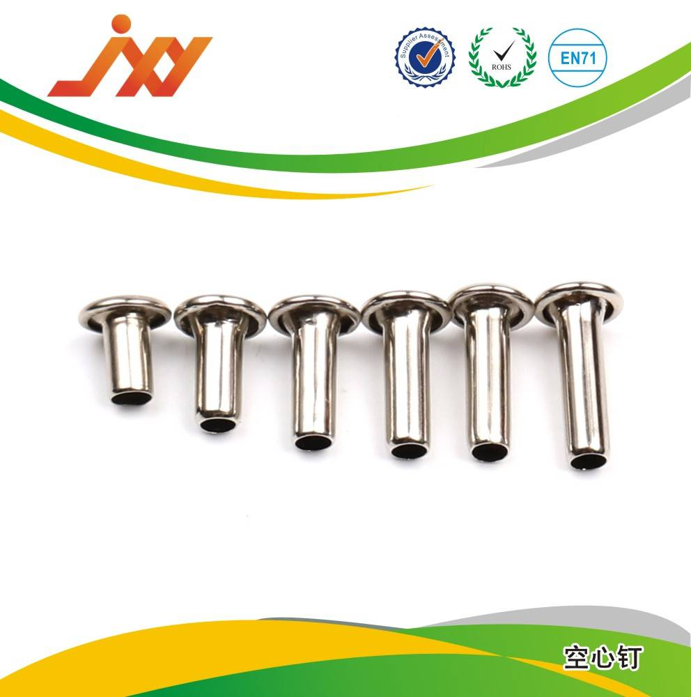 metal rivet for leather/metal double head rivet/metal tubular rivet