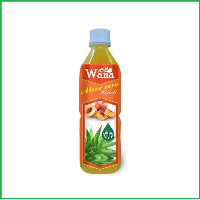 High Quality Aloe Drink With Peach Flavor 500l Bottle