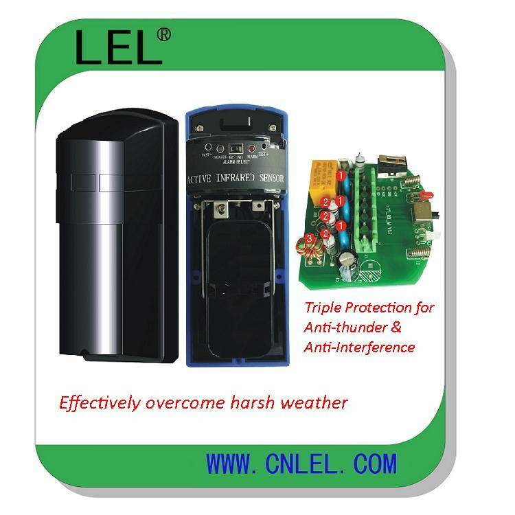 LBD-80F  FM Anti-jamming Dual Beams Infrared Detector, Eight & Four Frequency Bands Option