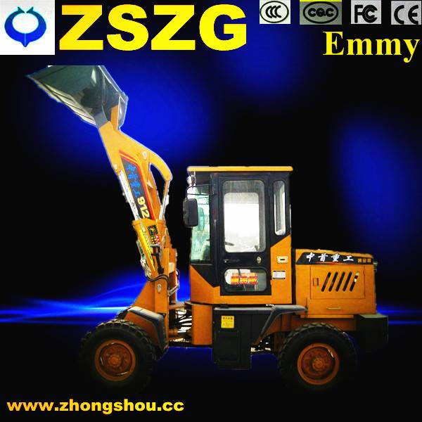 Hot sale zl912 china articulated hydraulic mini wheel loader made in CHINA