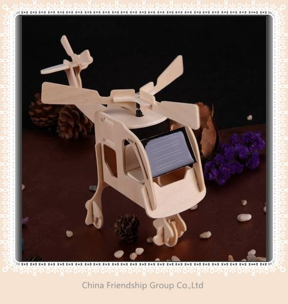 solar wooden helicopter