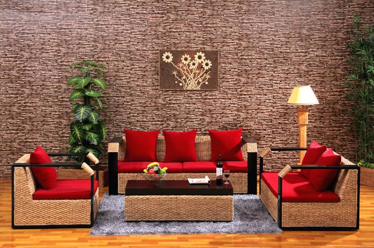 Modern Leisure Home Furniture Living Room Sofa Set Rattan Furniture