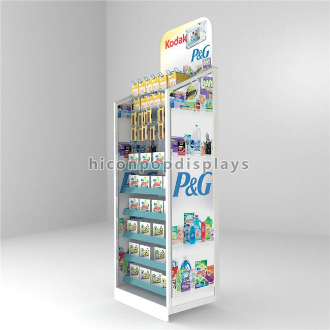 Marketing Equipment Metal Flooring Hair Product Display Stand