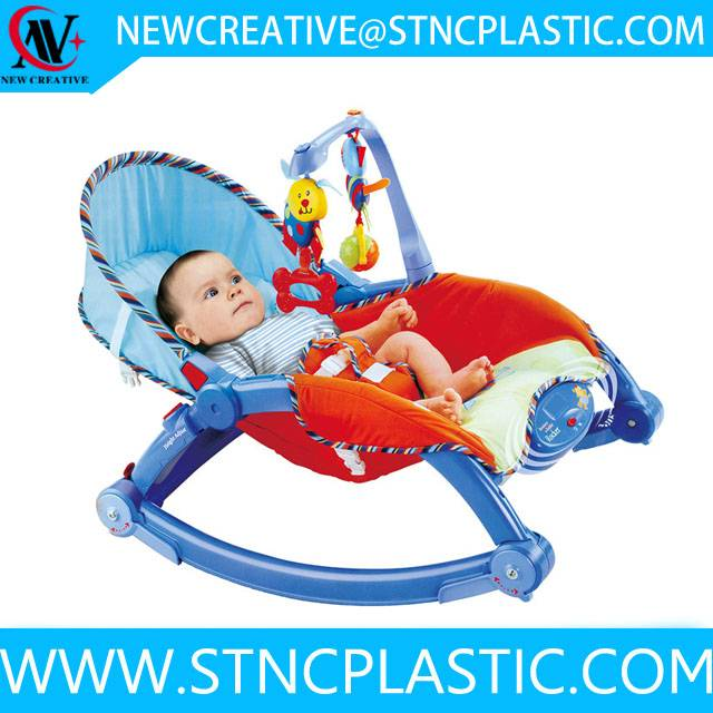 plastic baby plush rocking chair baby rocker