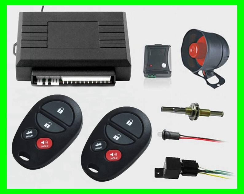 Auto car security alarm with central door lock ,trunk release