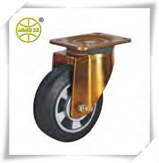 Industrial Caster with Elastic Rubber On Aluminium Core Wheel