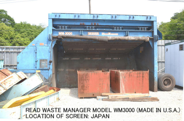 USED READ WASTE MANAGER MODEL WM3000 HYDRAULIC OPERATED VIBRATING SCREEN 2 DECKS (MADE IN USA)