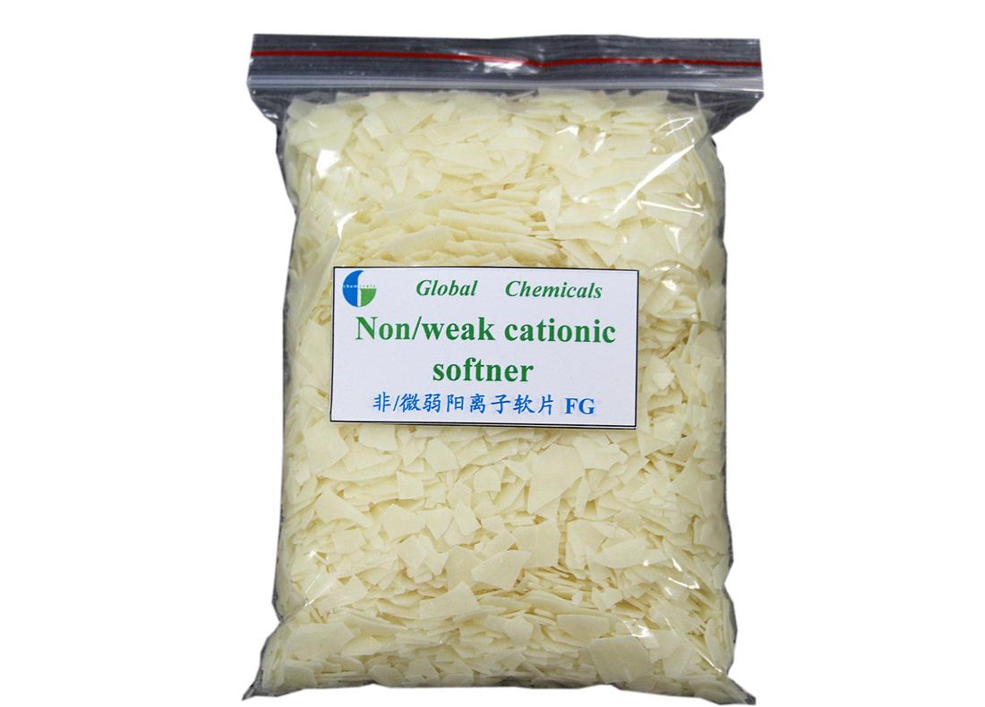 Pale Yellow Flakes Nonionic Cationic Softener FG