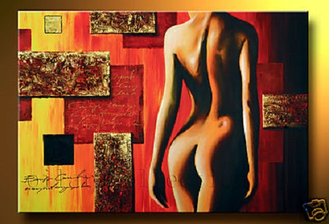 Modern nude Oil Paintings on canvas abstract painting -set12201