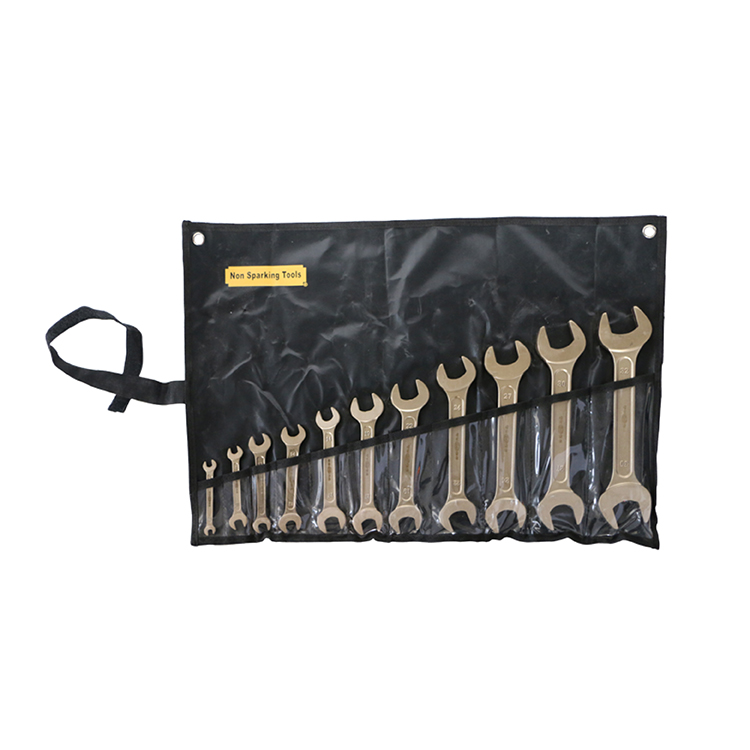 aluminum bronze double open end spanner set 67-3032mm non sparking tools