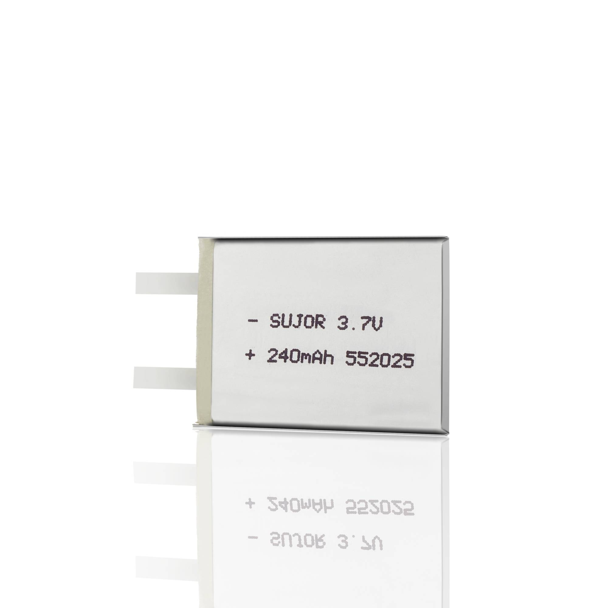 Lithium polymer battery for bluetooth headset 3.7V PL552025