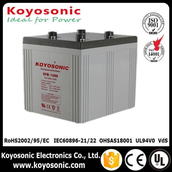 Sealed sealed type 2V 1500AH Gel Battery Solar Storage Battery