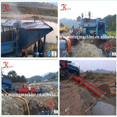 China Placer Gold Ore Wahing Plant