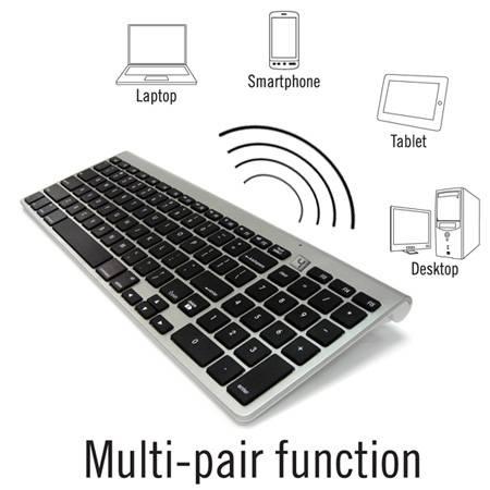 2 Zone Bluetooth Mac Compatible Keyboard WKB-802A