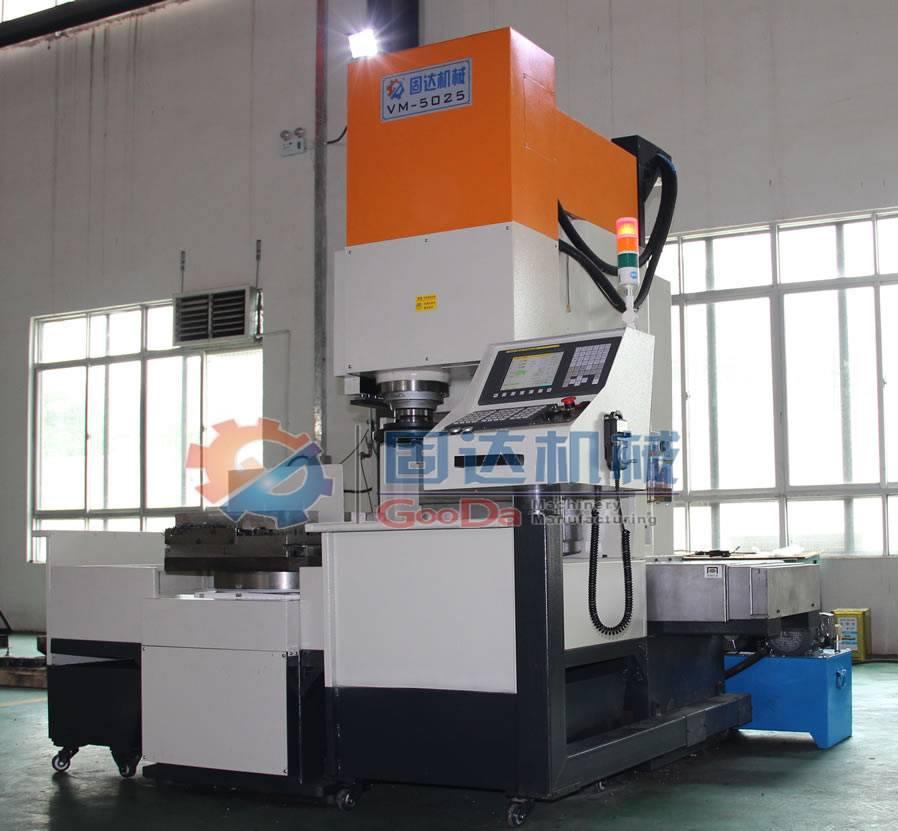 Vertical CNC milling lathe