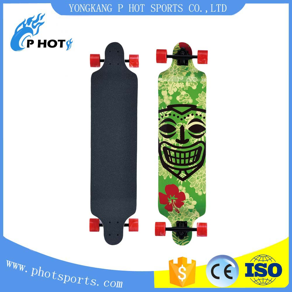 41 inch long board skateboard 9 layer Chinese Maple skate board wooden skateboard