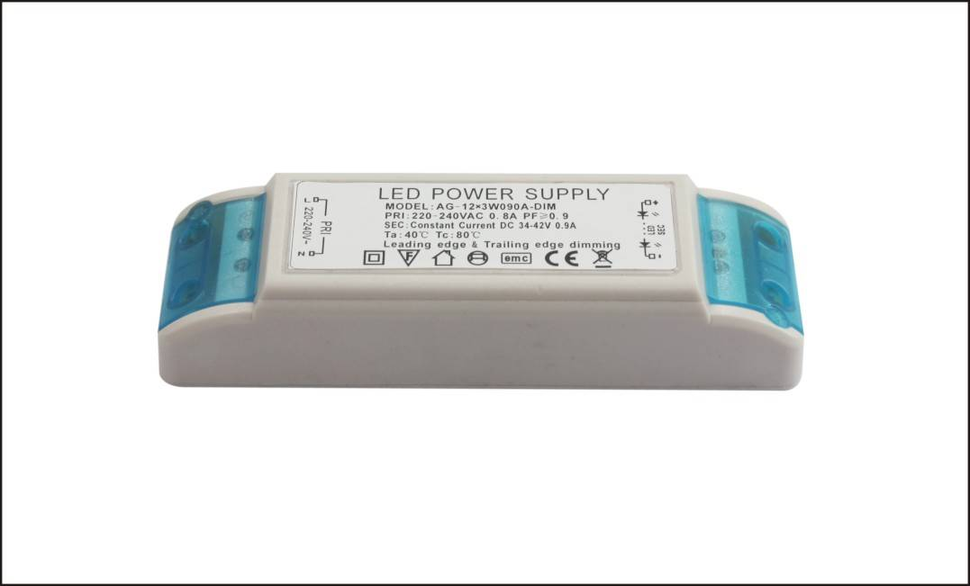 2015 hot selling 6-12w 300ma down lamp led power supply external dimming constant current triac dimm