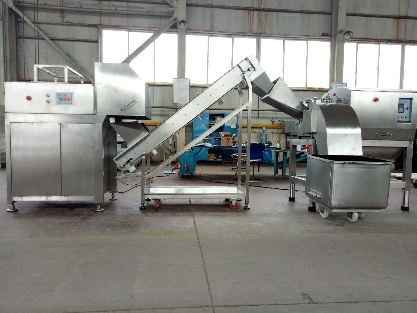 frozen meat cutter meat block guillotine machine
