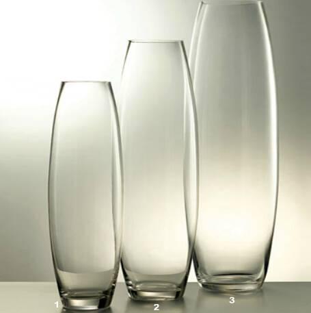 High transparent hand blown square glass vase for wedding decoration