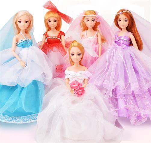 2014 Fashion wedding party gift wedding dress doll