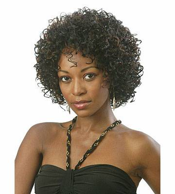 Black short black kinky curly synthetic wigs for women sw0111