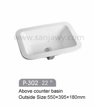 TOP High quality Triangle Shape Above Counter Wash Hand round wash basin