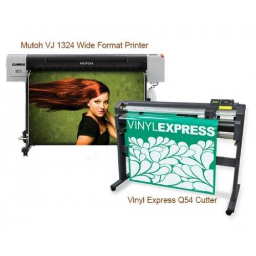 sell New Mutoh ValueJET 1324X Large Format Color Printer ValuePrint & Cut Package