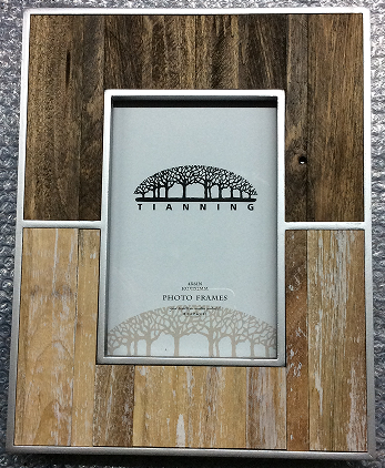 wooden photo frame and wall decor