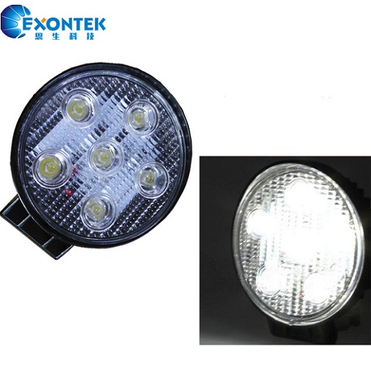 4X4 Headlight 18W motor offroad led work light 4WD Jeep SUV for tractor agricultural machinery truck