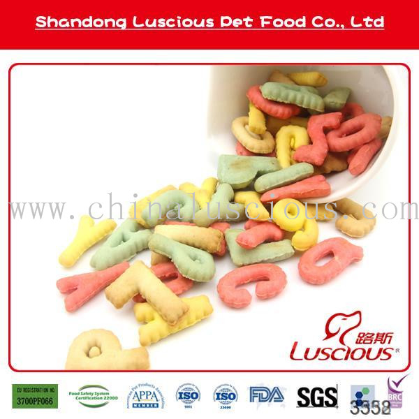 Bulk Biscuits in Letters Shape Pet Food Private Label