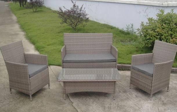 Rattan modern furniture set  restaurant garden furniture