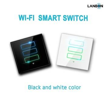 Smart Home Automation. Wireless Smart Switch by Mobile Phone control Glass Panel Switch
