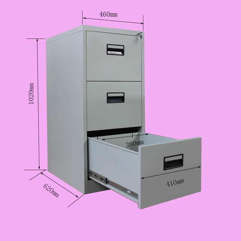 office furniture 3 drawer filing cabinet